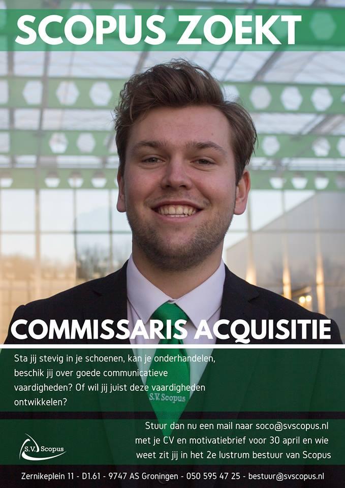 Voorstelrondje Commissaris Acquisitie