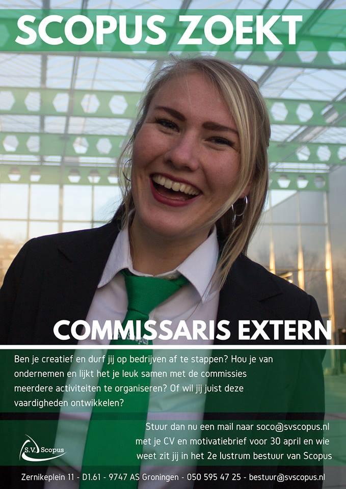 Voorstelrondje Commissaris Extern